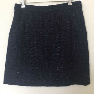 Cynthia Rowley Metallic Mini skirt navy
